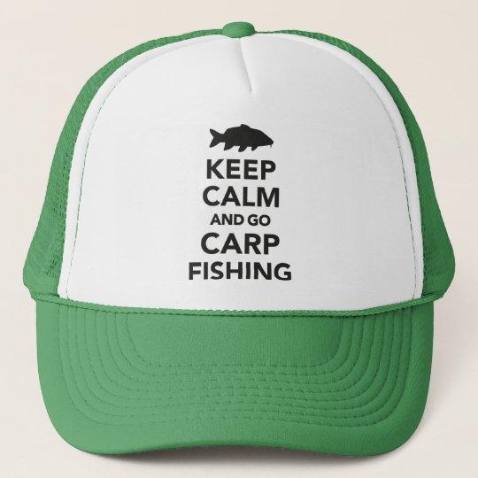 """Keep calm and go carp fishing"" trucker hat"