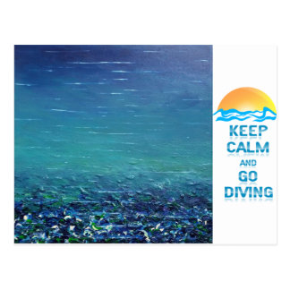 "Keep Calm and Go Diving - Postcard ""Code"" - mydive"
