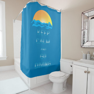 Keep Calm and Go Diving - Shower Curtain - mydive