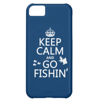 Keep Calm and Go Fishin' (in all colors) iPhone 5C Case