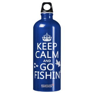 Keep Calm and Go Fishin' (in all colors) Water Bottle