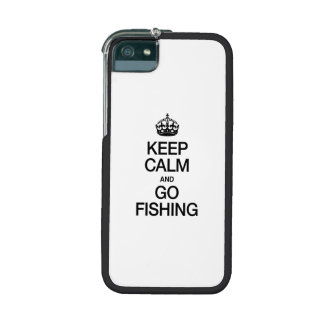 KEEP CALM AND GO FISHING iPhone 5 CASES