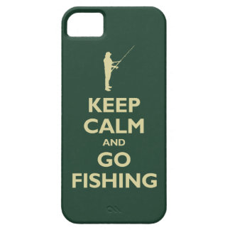 Keep Calm and Go Fishing (forest green) iPhone 5 Covers