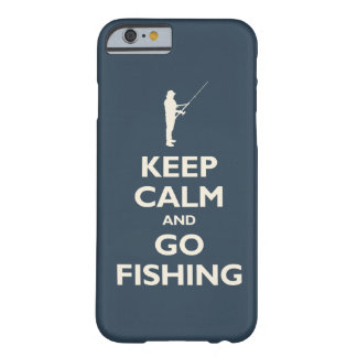 Keep Calm and Go Fishing (navy) Barely There iPhone 6 Case