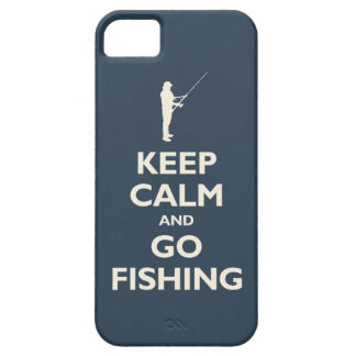 Keep Calm and Go Fishing (navy) iPhone 5 Covers