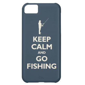 Keep Calm and Go Fishing navy iPhone 5C Cover