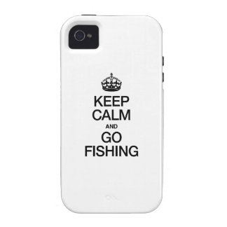 KEEP CALM AND GO FISHING VIBE iPhone 4 CASE