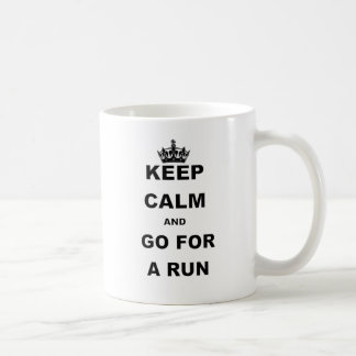 KEEP CALM AND GO FOR A RUN COFFEE MUG