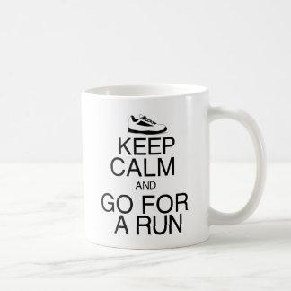 Keep Calm and Go For A Run Coffee Mugs