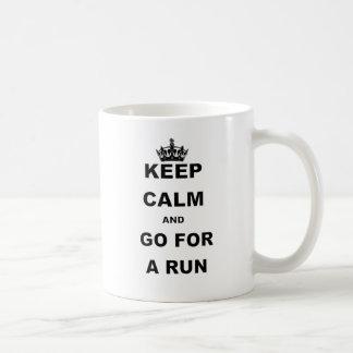 KEEP CALM AND GO FOR A RUN CLASSIC WHITE COFFEE MUG