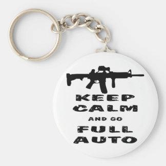 Keep Calm And Go Full Auto Key Chains
