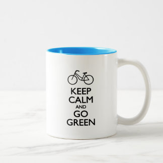 Keep Calm and Go Green Two-Tone Coffee Mug