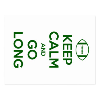 KEEP CALM AND GO LONG - football/sports/nfl Postcard