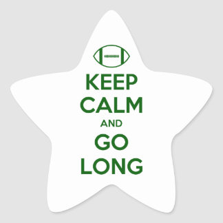 KEEP CALM AND GO LONG - football sports nfl Star Stickers
