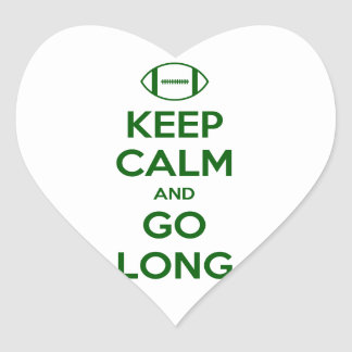 KEEP CALM AND GO LONG - football sports nfl Stickers