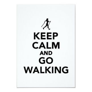 Keep calm and go Nordic Walking 9 Cm X 13 Cm Invitation Card