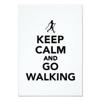 Keep calm and go Nordic Walking Custom Invitation