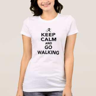Keep calm and go Nordic Walking Tees