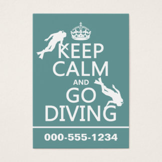 Keep Calm and Go (scuba) Diving (all colors) Business Card