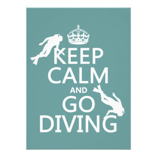 Keep Calm and Go (scuba) Diving (all colors) Announcements
