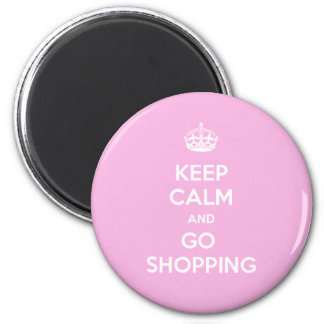 Keep Calm and Go Shopping 6 Cm Round Magnet