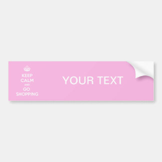 Keep Calm and Go Shopping Bumper Sticker