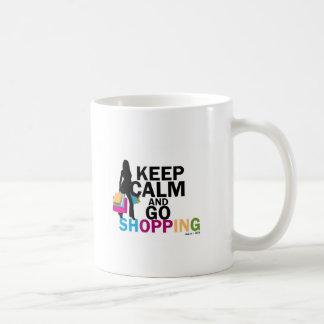 Keep Calm and Go Shopping Coffee Mug