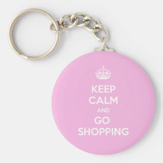 Keep Calm and Go Shopping Key Ring