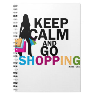 Keep Calm and Go Shopping Notebooks