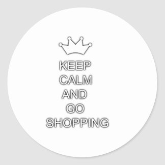 Keep calm and go shopping stickers