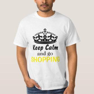 Keep calm and go shopping tshirts