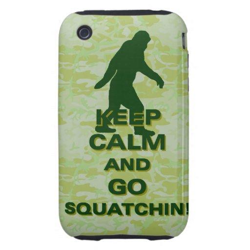Keep calm and go squatchin tough iPhone 3 case