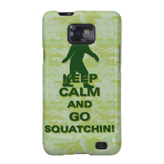 Keep calm and go squatchin galaxy SII cover