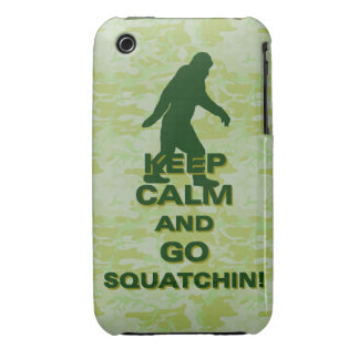 Keep calm and go squatchin iPhone 3 Case-Mate case
