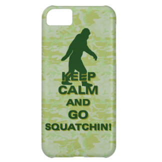 Keep calm and go squatchin iPhone 5C cases