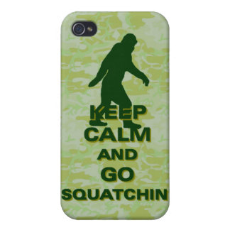 Keep calm and go squatchin covers for iPhone 4