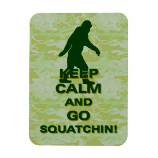 Keep calm and go squatchin rectangular magnet