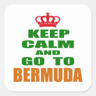 Keep calm and go to Bermuda Square Sticker