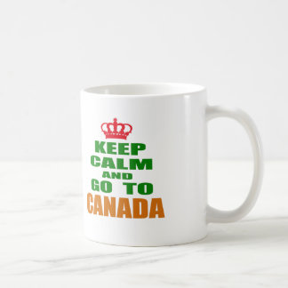 Keep calm and go to Canada. Mugs