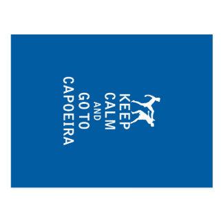 Keep Calm and Go To Capoeira Postcard
