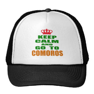 Keep calm and go to Comoros. Mesh Hats