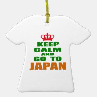 Keep calm and go to Japan. Christmas Tree Ornaments