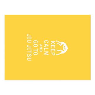 Keep Calm and Go To Jiu Jitsu Postcard