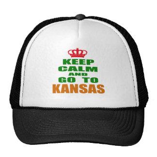 Keep Calm And Go To KANSAS. Mesh Hats