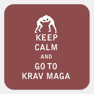 Keep Calm and Go To Krav Maga Square Sticker