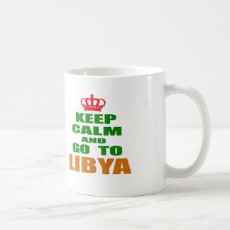 Keep calm and go to Libya. Mug