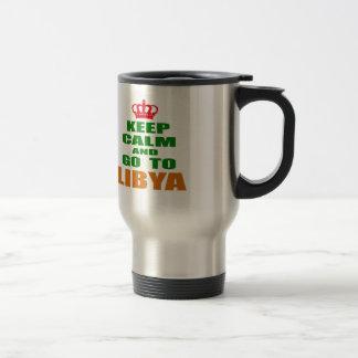 Keep calm and go to Libya. Mugs