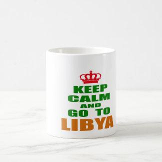 Keep calm and go to Libya. Coffee Mugs