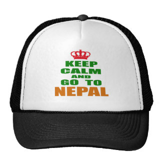 Keep calm and go to Nepal Hats