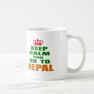 Keep calm and go to Nepal Coffee Mugs